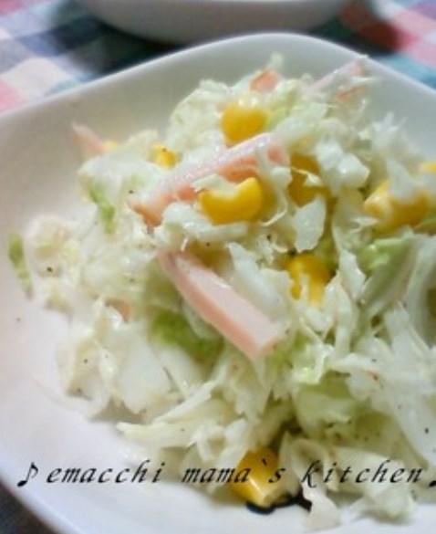 白菜でサッパリ☆コールスローサラダ
