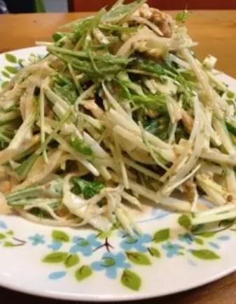 大根と水菜とツナの簡単サラダ♪