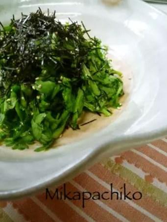 ☆ゴマ油たっぷり♬生春菊のサラダ☆