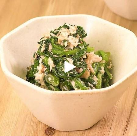 すぐにできる簡単副菜♪春菊のツナマヨ和え