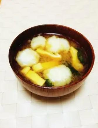 ふわとろ〜長芋だんごのお味噌汁