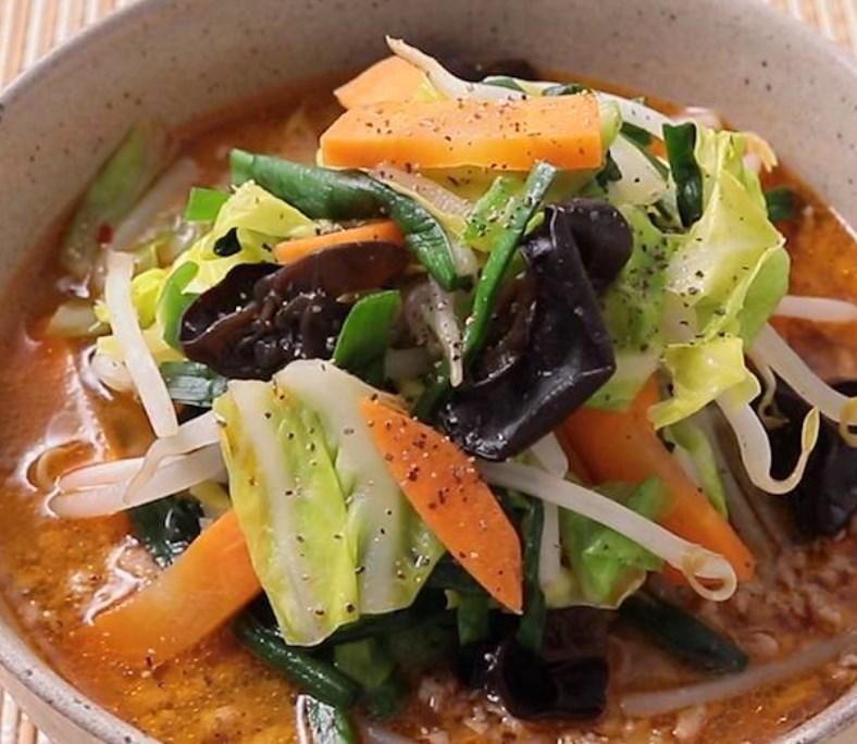 野菜たっぷり みそラーメン レシピ・作り方
