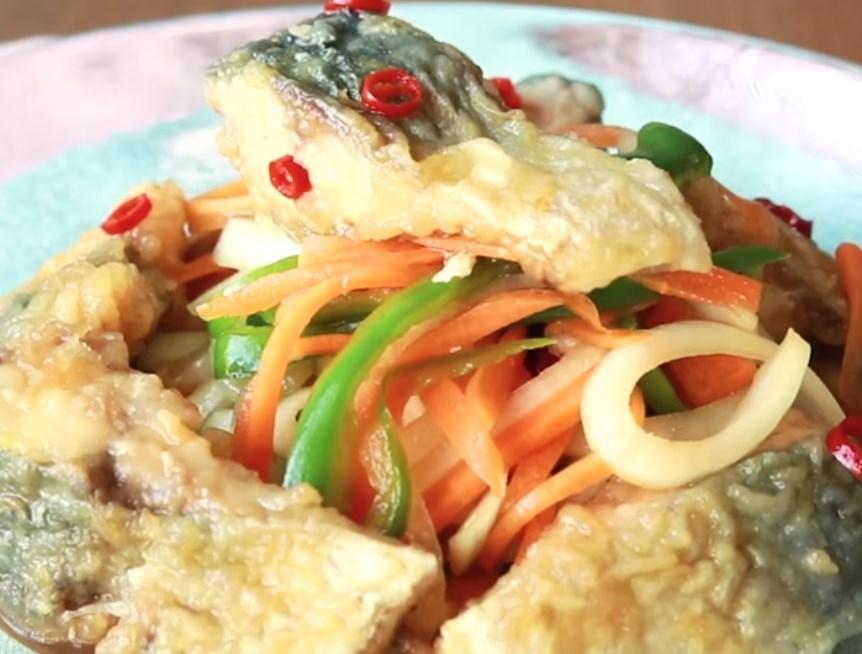 焼きサバの南蛮漬け レシピ・作り方