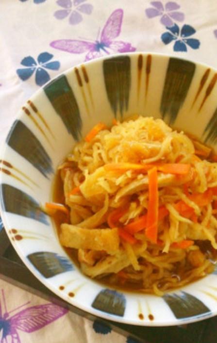 レンジで簡単☆切り干し大根の煮物。