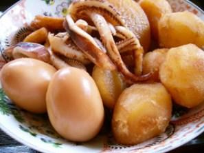 簡単煮物!イカ大根+卵+旬の野菜も加えて