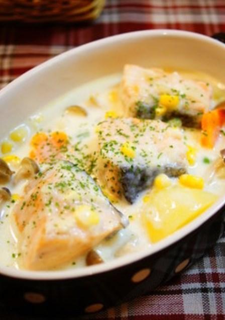 ✿鮭と野菜のチーズクリーム煮✿