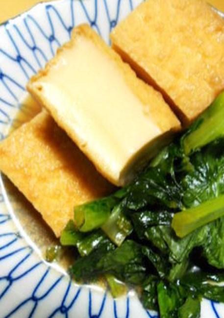 小松菜と厚揚げのさっと簡単煮