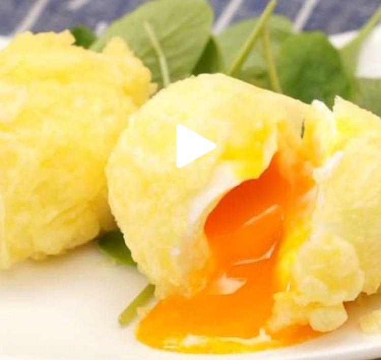 中トロトロでやみつき! 半熟卵の天ぷら