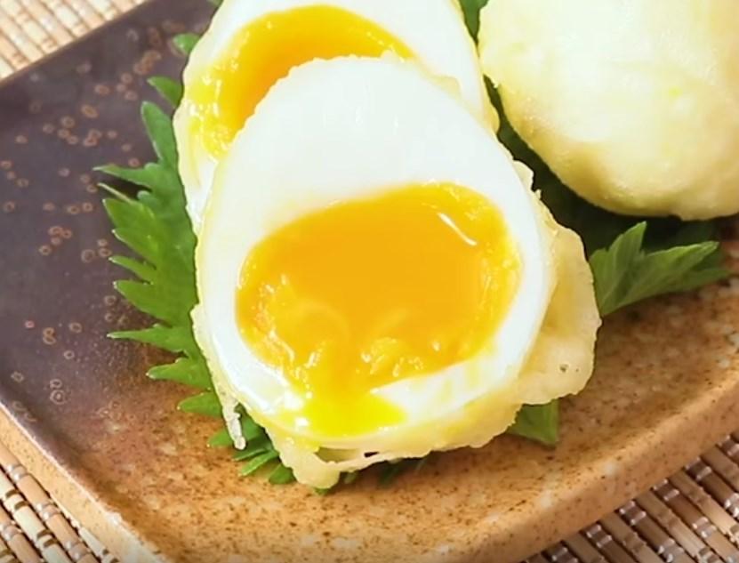 とろーり半熟卵の天ぷら レシピ・作り方