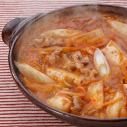 生姜たっぷりキムチ鍋