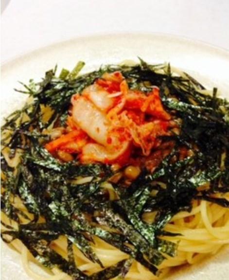 簡単❤納豆キムチスパゲティ